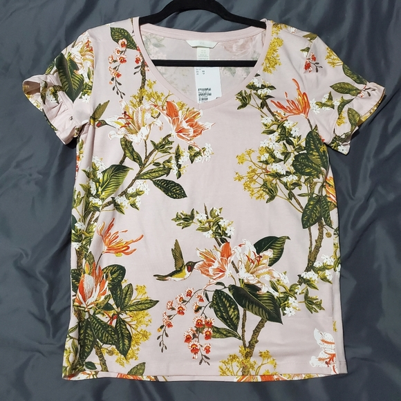 NWT Floral Tee